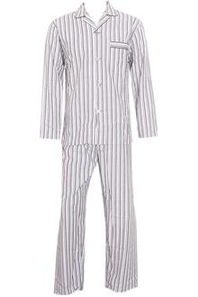 M & S Man Gray White Striped S/Sleeve Men Pyjamas