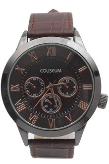Coliseum Imperial Brown Leather Watch