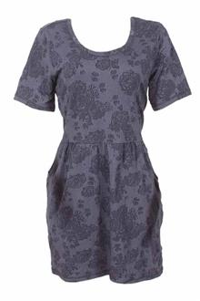 M & S Indigo Deep Blue S/Sleeve Dress