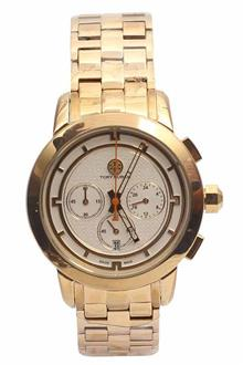 Tory Burch Gold Ladies Chronograph Watch