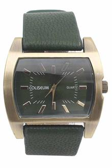 Coliseum Heritage Green Leather Mens Fashion Watch