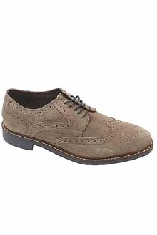 M&S Collection Gray Suede Leather Men Brogue