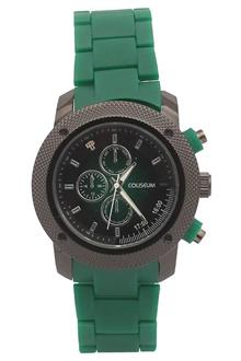 Coliseum Sway Green Rubber Strap Mens Fashion Watch