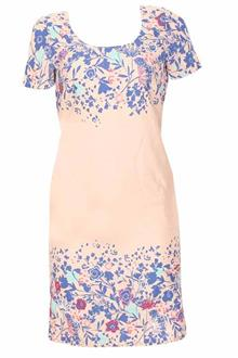 M&S Peruna Multicolor Cotton Ladies Dress