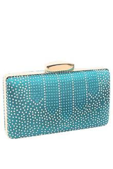 T. Green Studded Clutch Purse