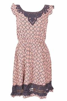 M&S Collection Peach Blue Chiffon Ladies Dress
