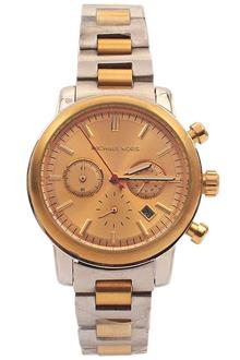michael kors designer watches neqq  Michael Kors Silver Gold Ladies Chronograph Watch