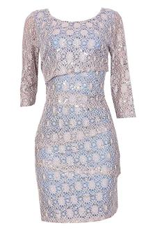 R&M Richards Purple Lace Dress