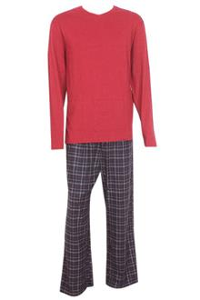 M & S Man Deep Blue Wine L/Sleeve Men Pyjamas