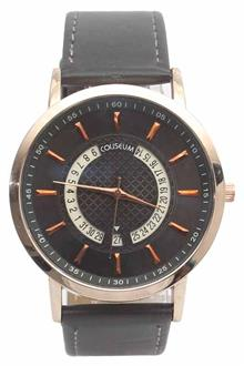 Coliseum La Libertad Gray Leather Mens Fashion Watch