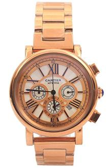 Cartier Rose Gold Ladies Chronograph Watch