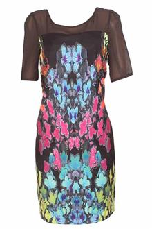 M&S Twiggy Multicolor Ladies Chiffon Dress