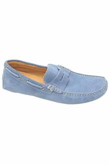 Blue Harbour Blue Suede Leather Men Loafers