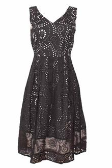 M&S Peruna Black White Ladies Lace Dress