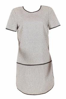 M & S Collection Black White S/Sleeve Mini Tunic Dress