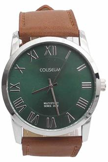 Coliseum Vintage 2652 Brown Leather Mens Fashion Watch