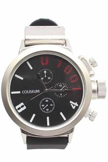 Coliseum Popeye Black Rubber Mens Fashion Watch