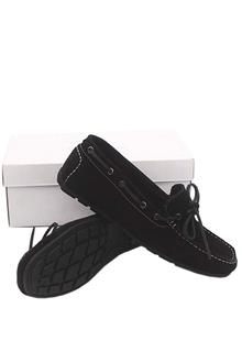 Kurt Geiger Black Suede Leather Men Loafers